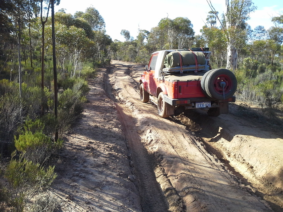 Tracks like these caused difficulties for the smaller vehicles.