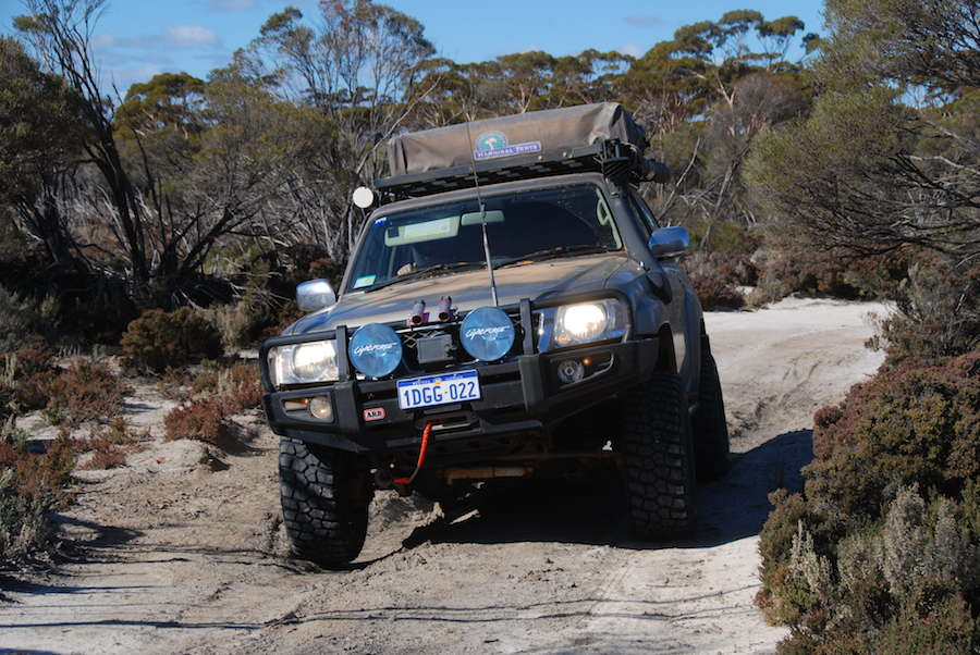 Ewen in his 4.8L GU Patrol Wagon.
