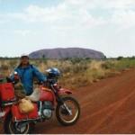 Norm in front of Uluru.