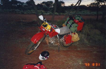 At the first night's camp near 'Chooka'.
