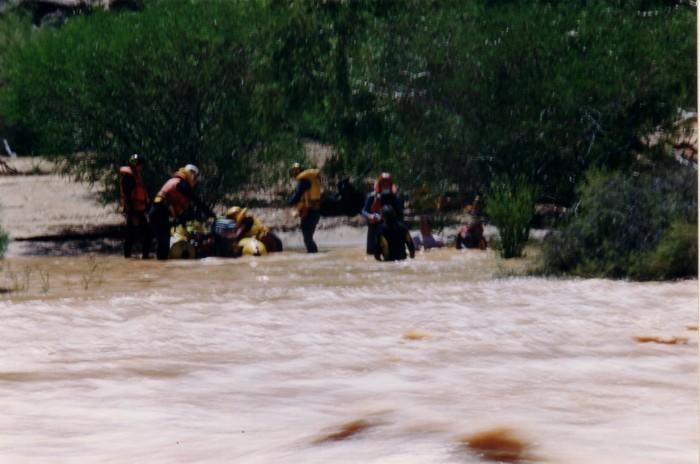 The boat crews assembled at an island at the bottom of Hardabut.