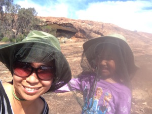 Cherry and Ayesha at Cave Hill