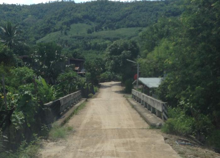 Remote village in Tha Li district