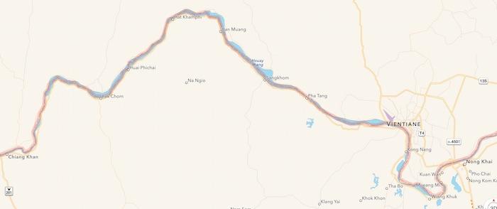 Nong Khai to Chiang Khan Route