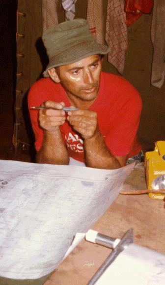 Mark assists with with route planning at Pooncarrie.
