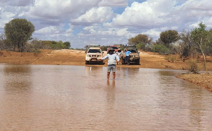 Alan at Byro-Beringarra Road Crossing.