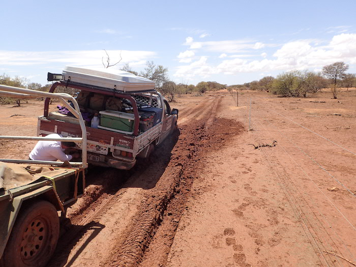 An innocuous looking part of the track grabbed the Navara and the drag of the trailer was too much.