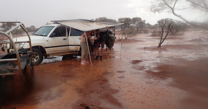 Allan's flooded camp.