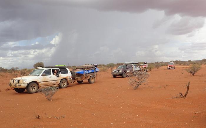 Arriving at Cadjacootharra.