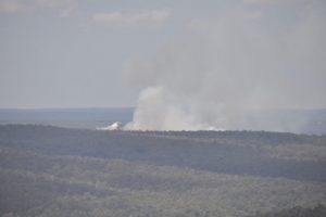 This fire was being actively fought with water bombers and (presumably) ground assets as we watched.