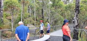 Cliff, Gilbert, Bram and Tania at the Mt Frankland Lookout.